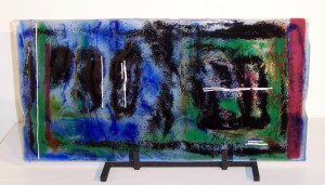 Fused glass piece