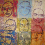 8 Saints, 2006, oil on canvas, 37 x 37 in.