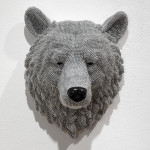 Bear, 2014, cast resin, air rifle BBs, mixed media, 17.5 x 13 x 9 in.