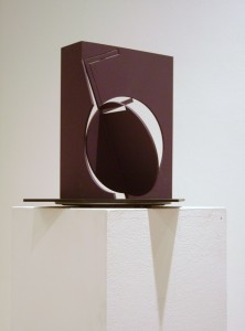 F, 2003, ed. 3/3, painted steel, 12 x 12 x 12 in.