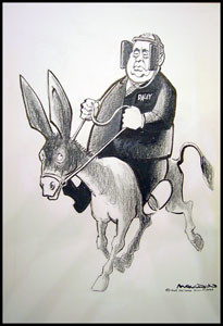 Daley on Donkey, image copyright 1969 by Bill Mauldin
