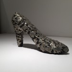 DeMonte, Shoe, 2004, pewter on wood, 9 x 6 x 3 in.