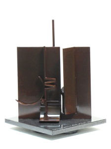 Plate Maquette No. 47, 2015, steel with patina, 10 x 8 x 8 in.