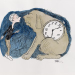 Milo and Tock (The Phantom Tollbooth), 2012, 12 x 15 in.