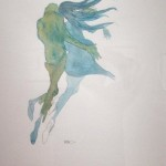 Back View, Blue Green, 2001, 30 x 25 in. (matted)