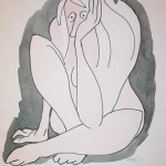 Nude with Green Eyes, 1998, 18x14.5in.