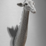 Giraffe, 2013, cast resin, air rifle BBs, mixed media
