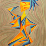 Hoity Toity Hottie, 2008, colored pencil on paper, 24 x 30 in. framed