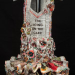 Donna Rosenthal, Icing On The Cake, 2016, vintage baking cookbooks, mixed media, 63 x 15 x 13 in.