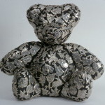 DeMonte, Teddy Bear, pewter on wood