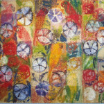 Witness Veil Pinwheel, 2005, oil on canvas, 44 x 66 in.