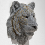 Tiger, 2013, cast resin, air rifle BBs, mixed media