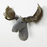 Moose, 2016, cast resin, air rifle BBs, mixed media, 20 x 22 x 8 in.