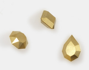 John Torreano, Gold Leaf Gems, 1992, gold leaf on wood, dimensions variable