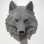 Wolf, 2013, cast resin, air rifle BBs, mixed media