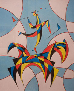 Balanced Viewpoint, 2009, colored pencil on paper, 34 x 40 in.