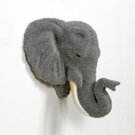 Courtney Timmermans, Urban Herd: Elephant, 2015, air rifle BBs, cast resin, mixed media, 16 x 11 x 7 in.