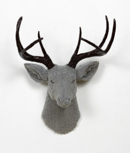Deer, 2012, cast resin, air rifle BBs, mixed media, 22 x 17 x 14 in.