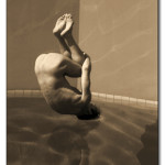 Dive, archival digital print, 30.5  x22 in. matted, edition of 10