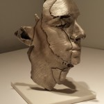 G:Silver, 2014, bronze, silver paint, cast from a 3D printer, 13 x 9.25 x 8.25 in.