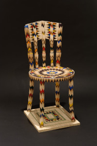 Navajo Melody, 2012, 36 x 16 x 18 in., chair, matches, mixed media