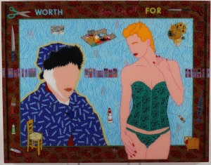 Worth Cutting Your Ear Off For 1991 acrylic on plexiglas 43 x 55